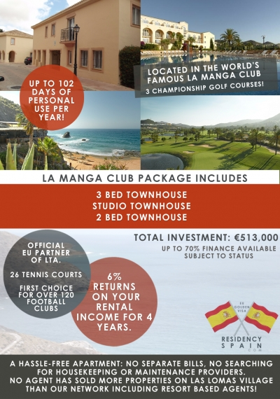 Residency Package Option 1 In La Manga