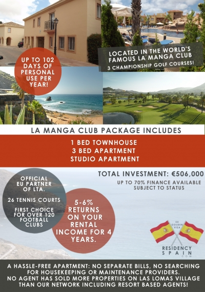 Residency Package Option 3 In La Manga