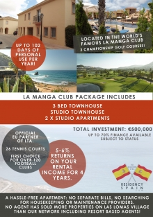 Residency Package Option 2 In La Manga